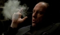 Tony Soprano smoking Gandolfini